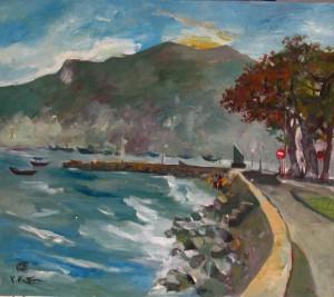 Con Dao landscape 70x70cm oil on canvas 2008. p 1.2