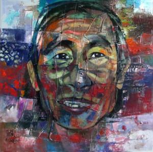 artist portrait 85x85  oil on canvas. 2011. p 1.5