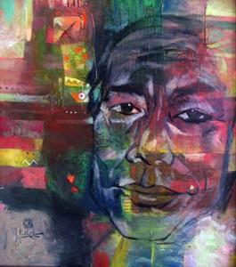 artist portrait 85x95 oil on canvas 2011 .p 1.5