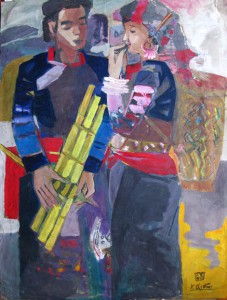boy and girl 60x80cm  pastel 90. p 0.5