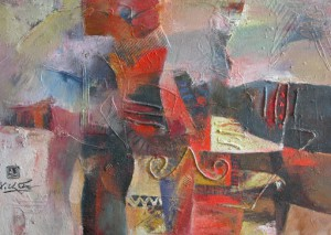Abstract 80x100cm oil (sold) (3)
