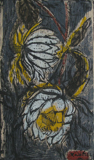 Quynh flower 20x30cm wood - engraving 93. p 0.1