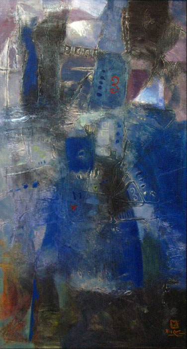 abstract 50x110cm oil on canvas p 2
