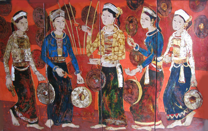 Cong festival 100x160cm lacquer 08 (sold)