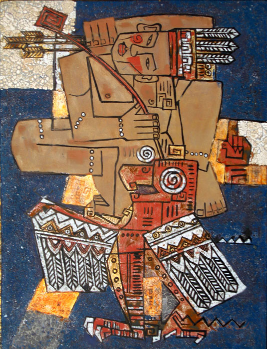 Thach sanh historical monument 45x60cm lacquer 09 . p2.0