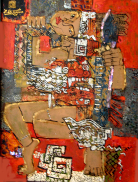 Thach sanh historical monument 45x60cm lacquer 09 (2)(sold)