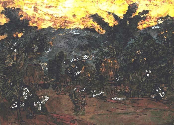 landscape 45x60cm lacquer 09