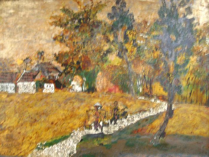 landscape 60x80cm lacquer 06 (sold)