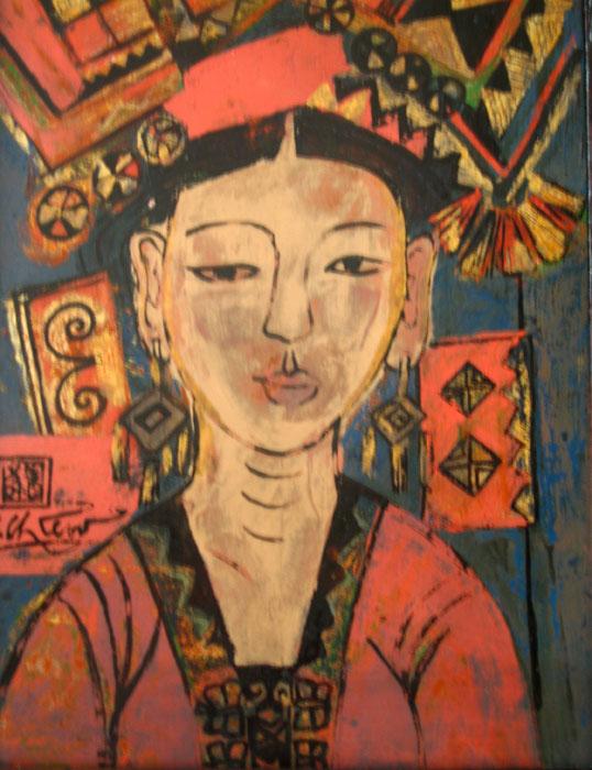 portrait  30x40cm lacquer 10. p 0.7