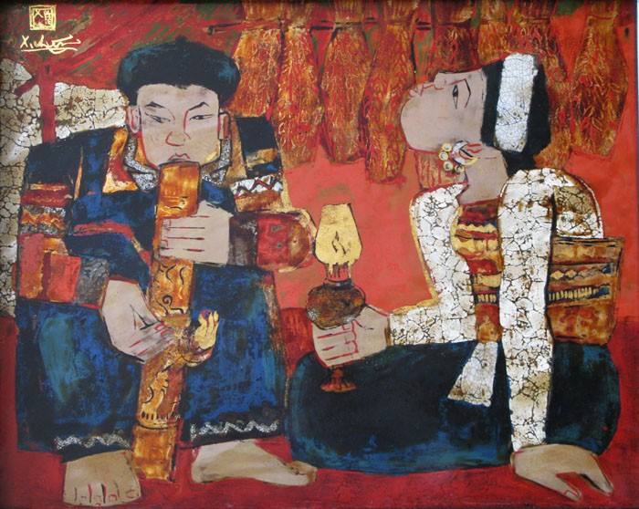 to smoke Lao 60x80cm lacquer 06(sold)