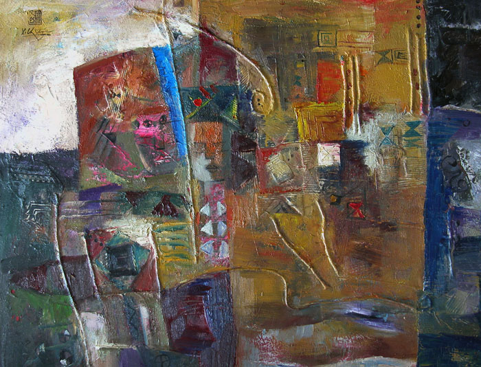 Abstract 80x100cm oil (sold)