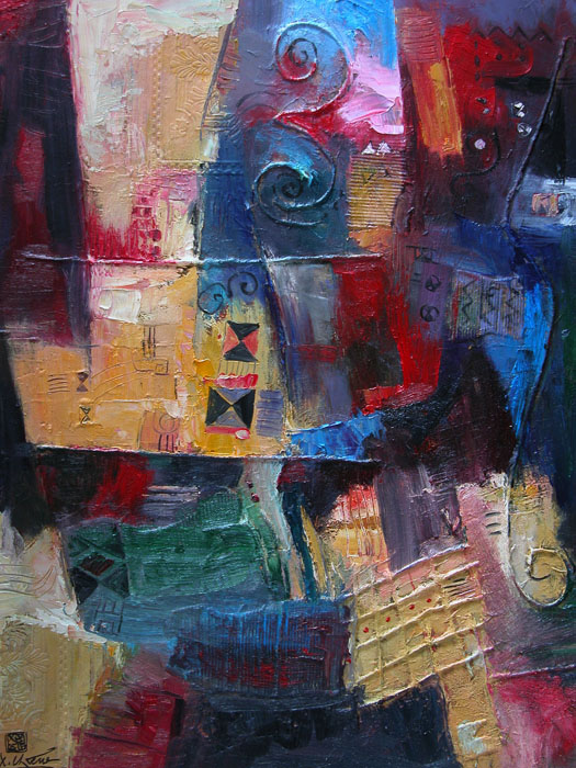 Abstract 80x100cm oil (sold