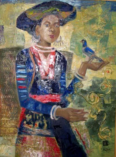 H'mong ethnic girl 50x70cm oil (2) (sold)