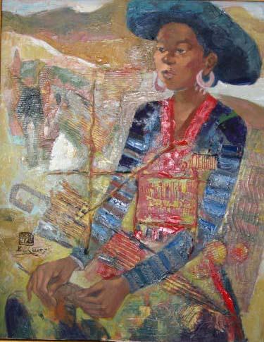 H'mong ethnic girl 50x70cm oil (sold) (3)