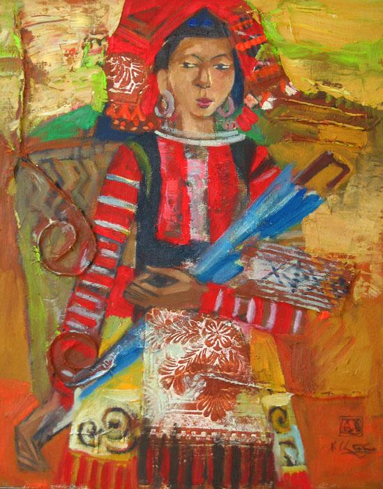 H'mong ethnic girl 50x70cm oil (sold)