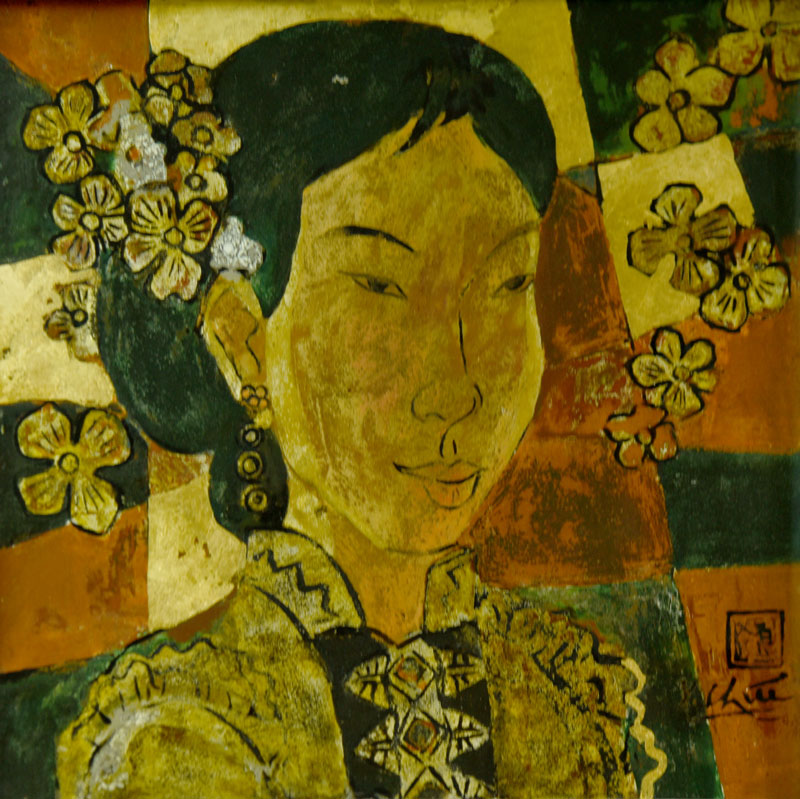 Le-Xuan-Chieu-Portrait-Thai-ethnic-girls-festival-lacquer-30x40-cm-03-Price-USD-950