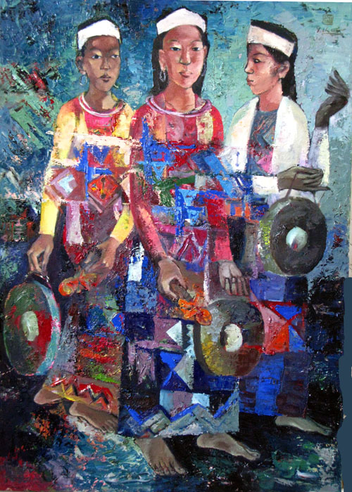 Play cong 90x130cm oil (sold)