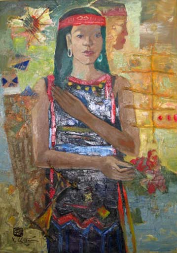 West hightland ethnic girl 50x70cm oil (2) (sold)