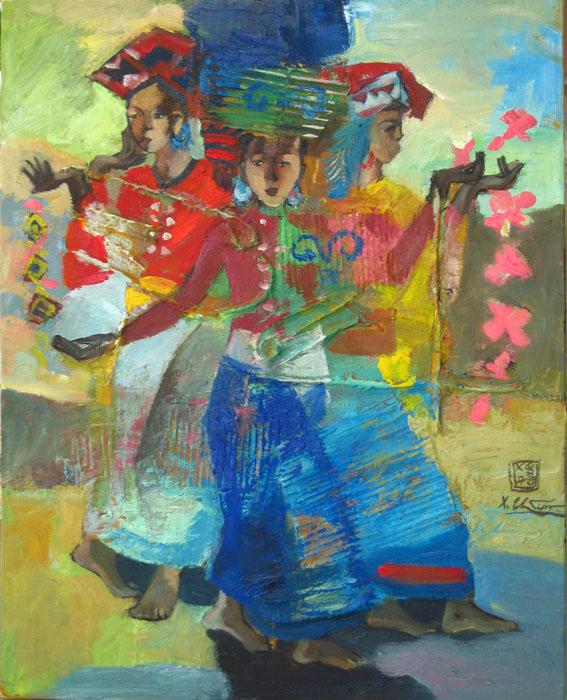Xoe dancing 80x100cm oil (5) (sold)