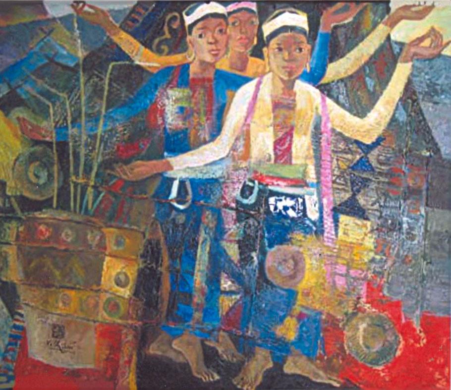Xoe dancing 80x100cm oil (sold)