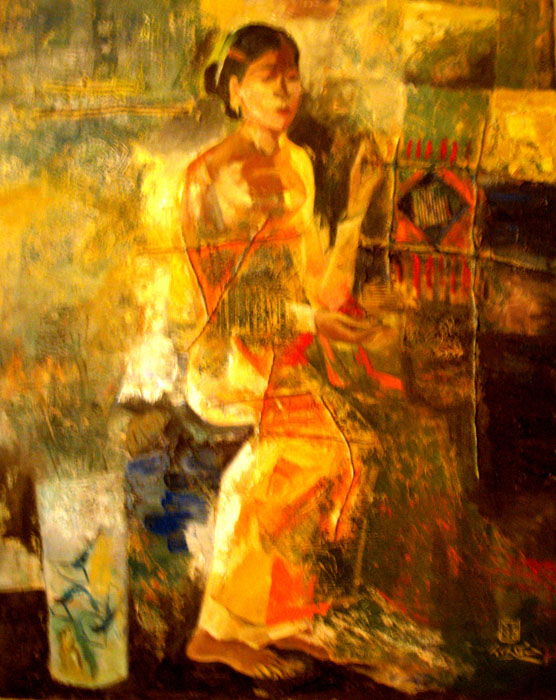Young girl 80x100cm oil (sold)