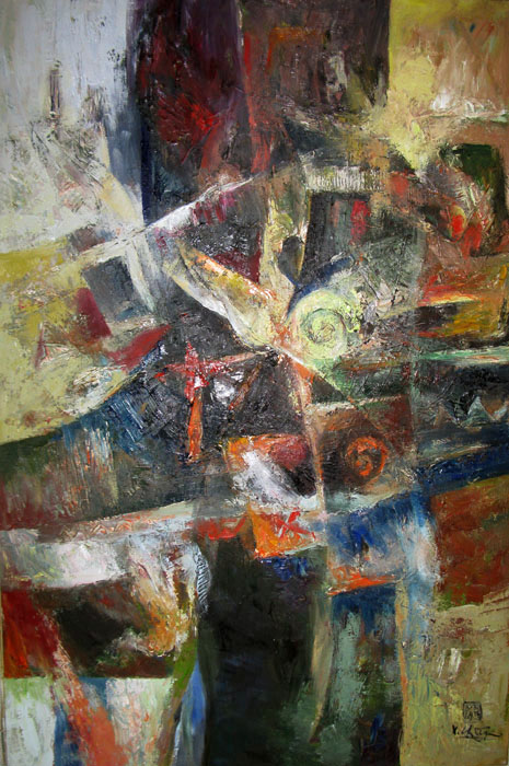 abstract 80x130cm  oil on canvas